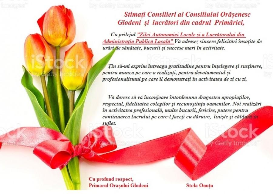 1 Februarie - Ziua Autonomiei Locale și a Lucrătorului din Administrația Publică Locală