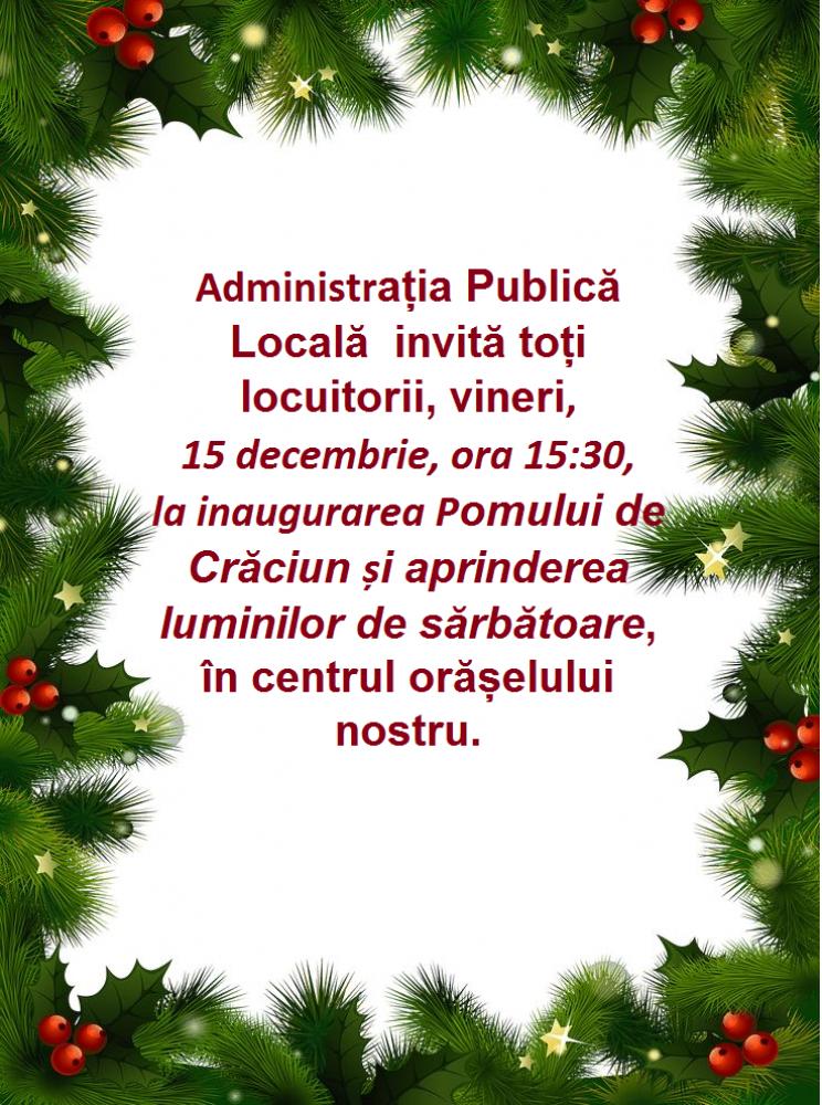 Inaugurarea Pomului de Crăciun